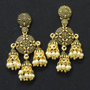 Oxidised Golden Danglers
