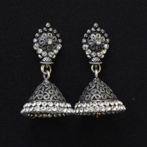 Oxidised-Silver-Jhumka