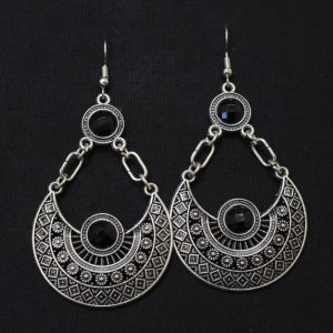Earrings for Women - Oxidised Silver Dangler Earrings