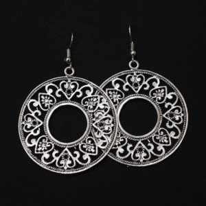 Oxidised Silver Dangler Earrings