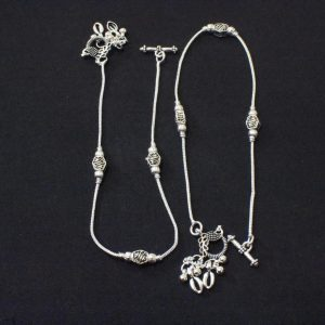 Anklets for Women - Oxidized Silver Anklets